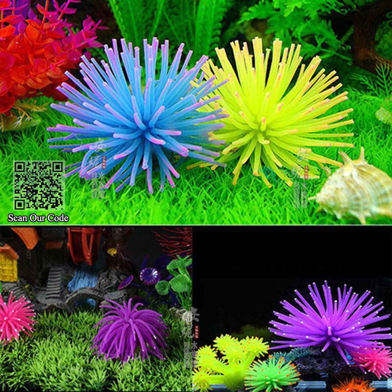 Akcesoria do akwarium Waterscape, miękkie kolorowe silikonowe akwarium sztuczne pływające meduzy Seajelly Coral Plant do akwarium