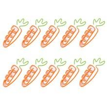 10 шт./партия креативные кавайные металлические скрепки в форме моркови, закладки, канцелярские товары, школьные офисные принадлежности