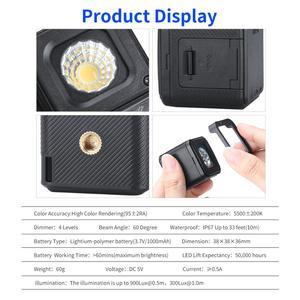 Image 4 - Ulanzi L1 Pro Impermeabile Dimmer HA CONDOTTO LA Luce Video 5600K w 20 Filtri di Colore Ha Condotto La Lampada per Drone DJI Osmo tasca Gopro 7 Fotocamere REFLEX Digitali