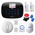 Original KERUI G19 Wireless GSM Home Alarm System Security with RFID Tags English/Russian Voice Wireless Fire Smoke Detector