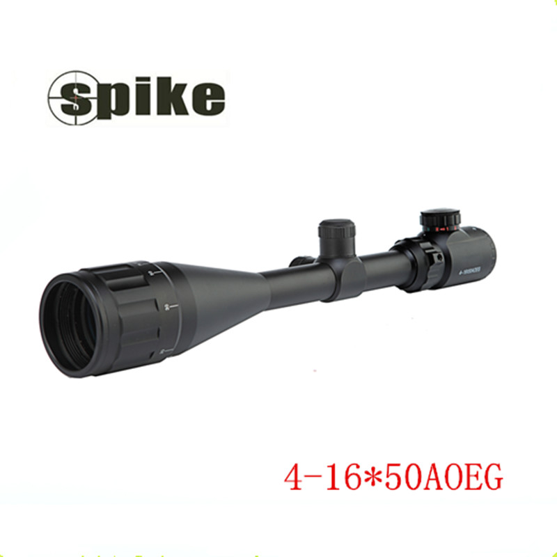 High Quality 4-16X 50mm AOEG Blue Lens Film Sight Hunt Telescope Red/Green New illuminated Rifle Gun airsoft hunting Scope  цены
