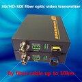 10 km HD SDI Extender Fibra Óptica Conversor de Mídia de Fibra 3G Fibra SDI Transmissor De Áudio E Vídeo Receptor Com Dados RS485 Ao Longo fibra