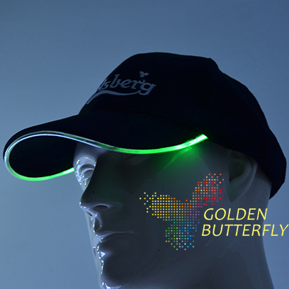 EL Peaked cap 2017 luminous Caps Monochrome Full color luminous Baseball strange helmets Glowing Party Headgear