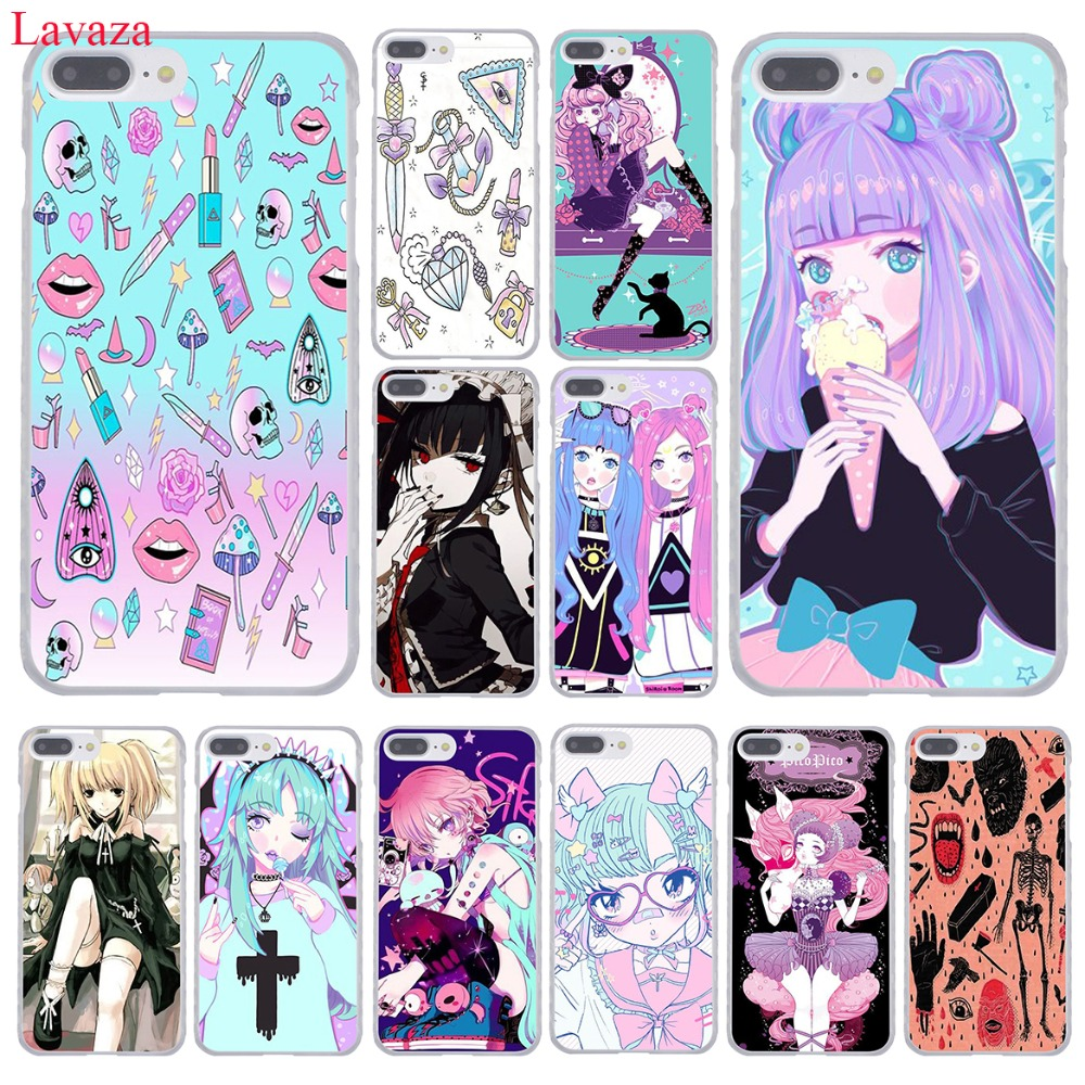 Lavaza Girly Pastel Witch Goth Hard Phone Case For Apple IPhone XR XS Max X 8 7 6 6S Plus 5 5S