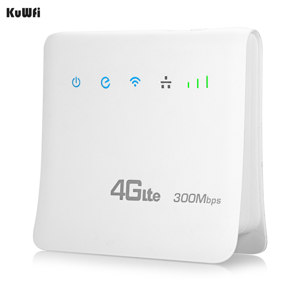 Unlocked 300Mbps Wifi Routers 4G LTE CPE Mobile Router with LAN Port Support AT&T SIM card and Europe/Asia/Middle East/Africa