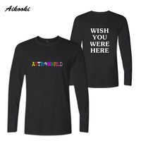 39f58e6c4315 Hot Sale Travis Scotts Astroworld Long Sleeve T Shirt Spring Fashion Men  Women T Shirts Cotton