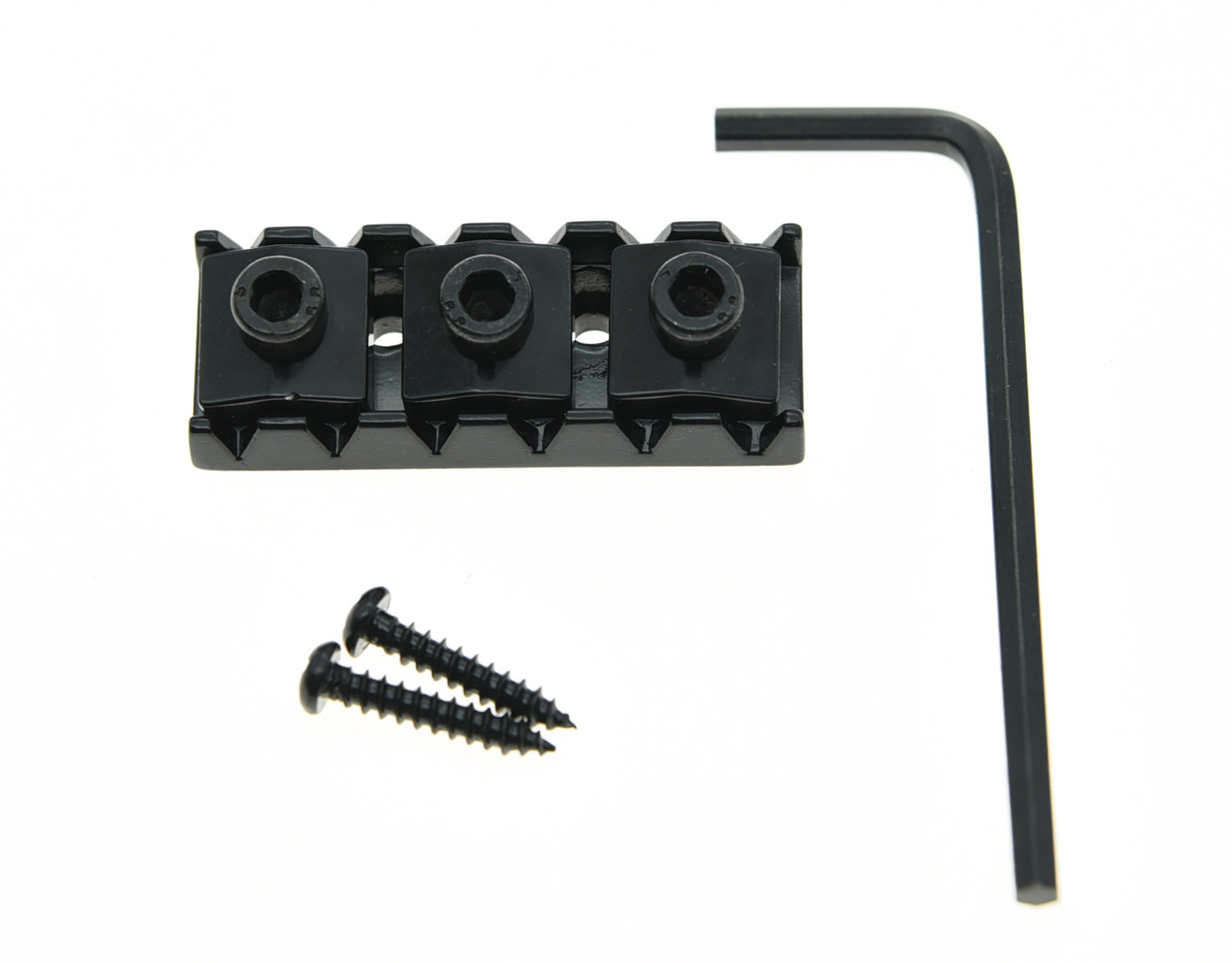 KAISH 42mm Black Guitar Locking Nut Guitar String Lock Fits Floyd Rose Tremolo kaish black p90 high power sound neck