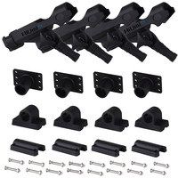 Hiumi Adjustable Black Finish ABS And Stainless Fishing Rod Holder For Boat Kayak Pontoon Boat With