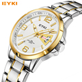 EYKI 2017 Men's Quartz Watch Top Brand Full Steel Luminous Hands Date Week Hour Clock Man Fashion Casual Business Dress Watches