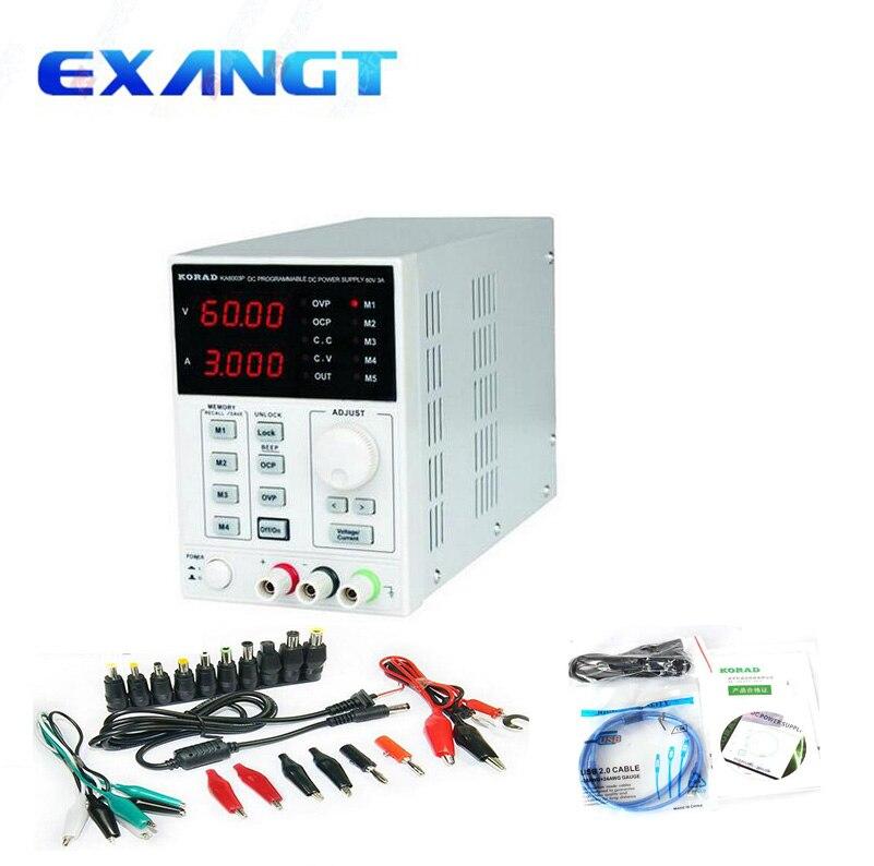 60v 3A KORAD KA6003P High precision Programmable Adjustable Digital DC POWER SUPPLY R232 and USB Connect