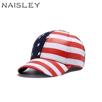 NAISLEY Men Hat Wild Europe And The United States Flag Hip-hop Baseball Cap Summer Sun Cap Women Outdoor Sports Cotton Hat Cap