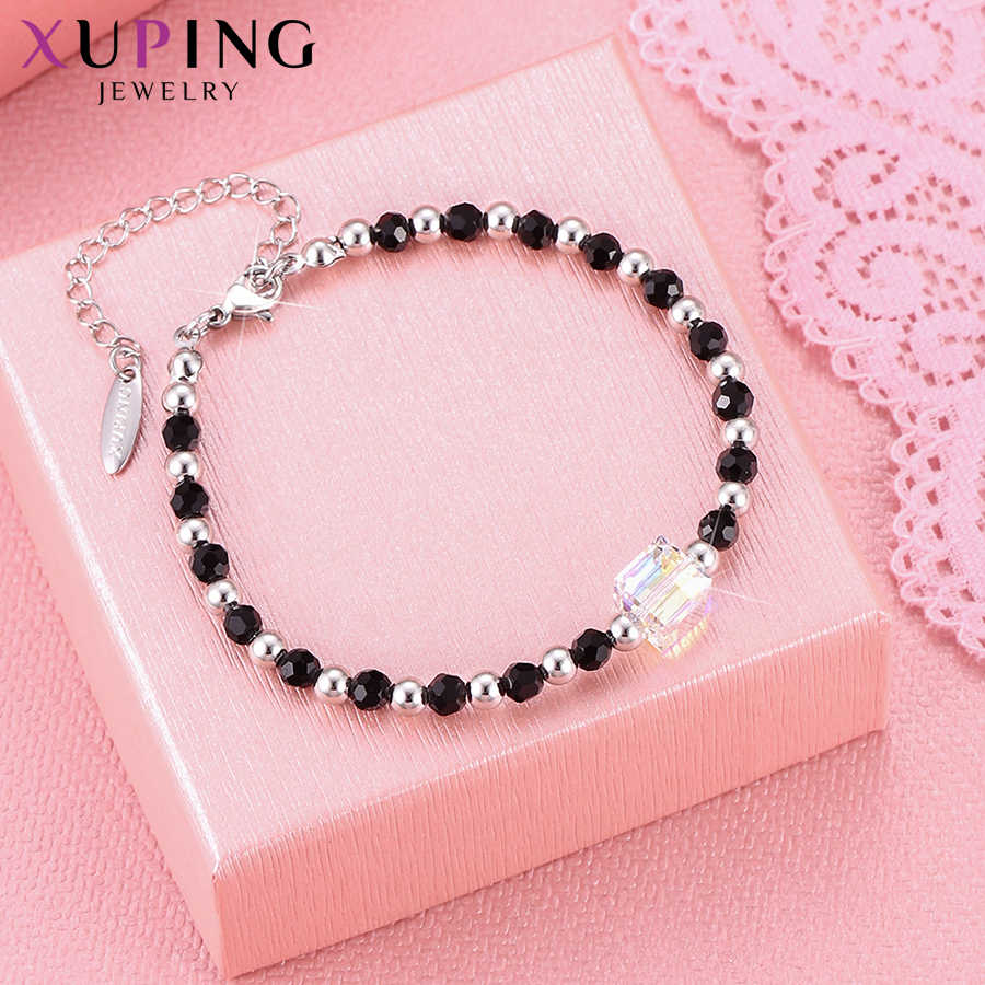 Xuping Square Elegant Bracelets Crystals from Swarovski Luxury Charms Styles Jewelry for Women Thanksgiving Gift M96-70023
