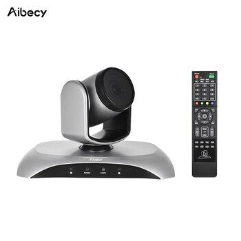 Aibecy 1080 P HD конференции Камера USB 3X зум 360D вращения дистанционного Управление Мощность адаптер для видео встречи обучение