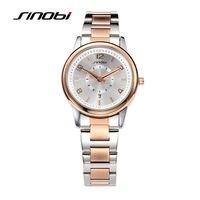 2017 SINOBI Watches Women Brand Luxury Quartz Watch Women Fashion Relojes Mujer Ladies Wrist Watches Business