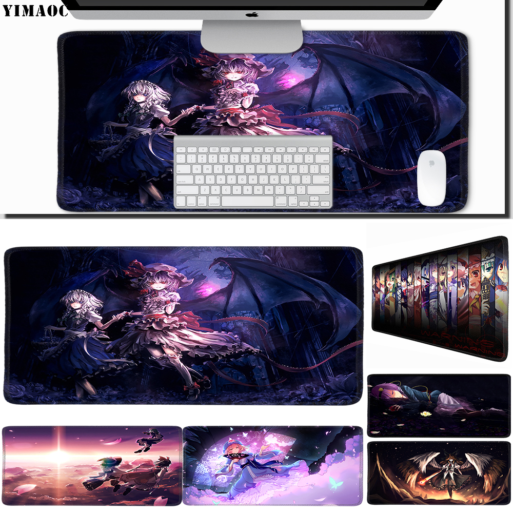Knowledgeable Yimaoc 30*60 Cm Large Mouse Pad Gamer Mousepad Rubber Gaming Desk Mat With Locking Edge Touhou Various Styles Mouse Pads Computer & Office