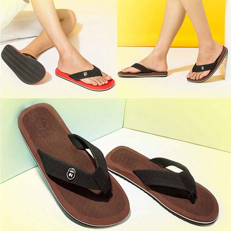 Summer Fashion Men's flip flops Beach Sandals for Men and Women Flat - Men's Shoes - Photo 5