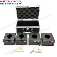 Caja receptora de 4 canales, mando a distancia inalámbrico remoto doble D04, máquina de pyro de boda