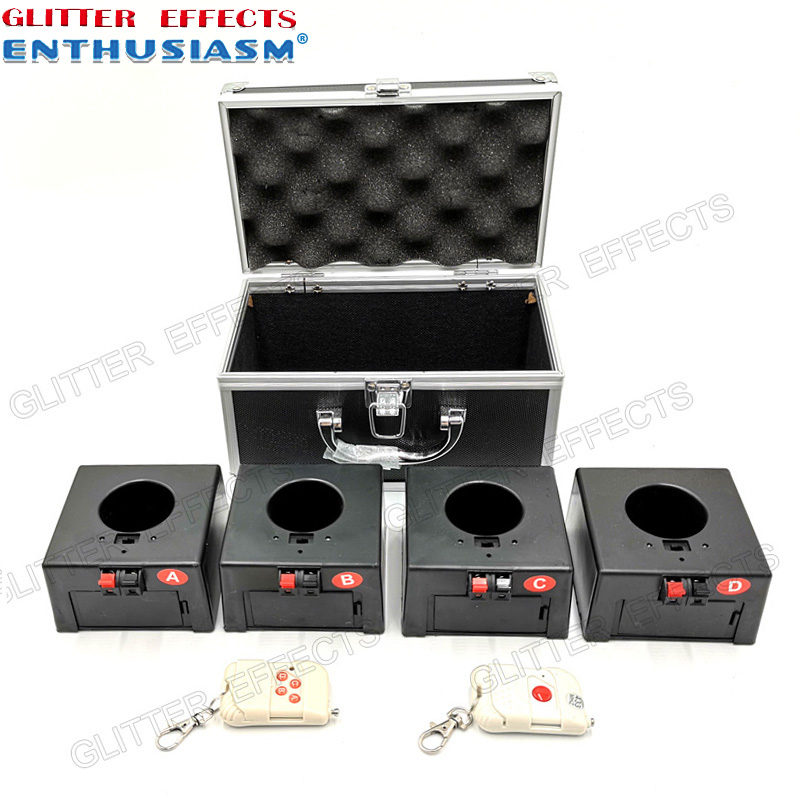 D04 double remote wireless remote control 4 channel receiver box wedding pyro machineD04 double remote wireless remote control 4 channel receiver box wedding pyro machine