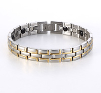 New 2013 Wholesale Fashion Jewelry Healing Magnetic 316L Stainless Steel Bracelet For Men Or Women With