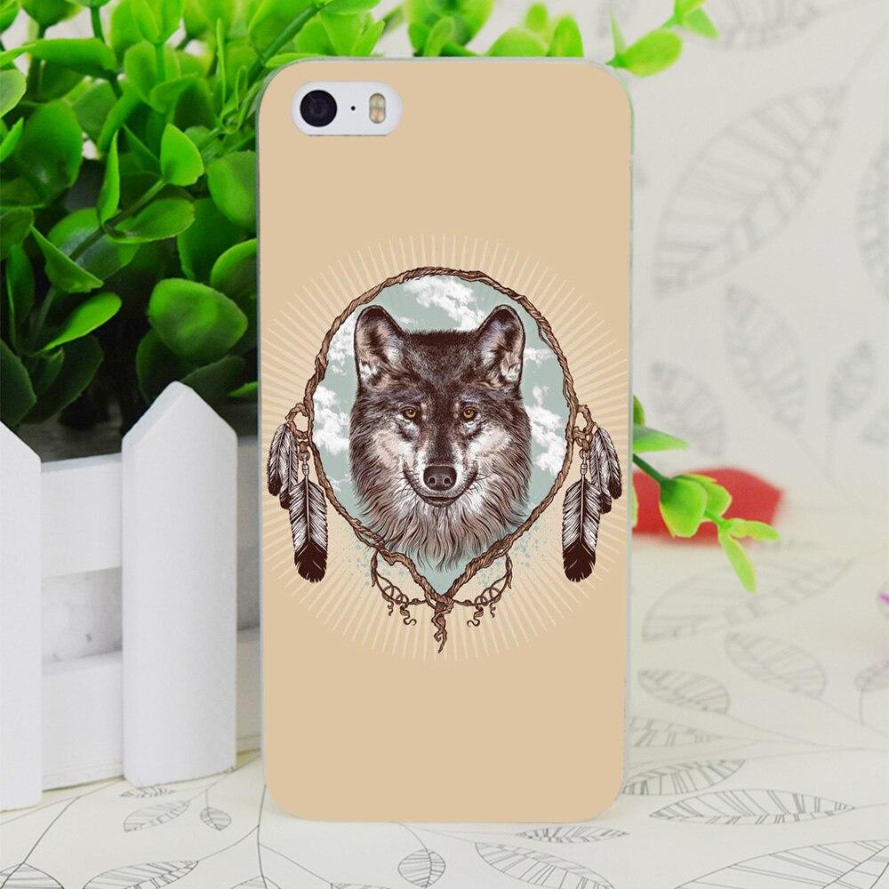 C4061 серый волк прозрачный жесткий тонкий корпус кожного покрова для Apple IPhone 4 4S 4 г 5 5 г 5S se 5C 6 6 S плюс