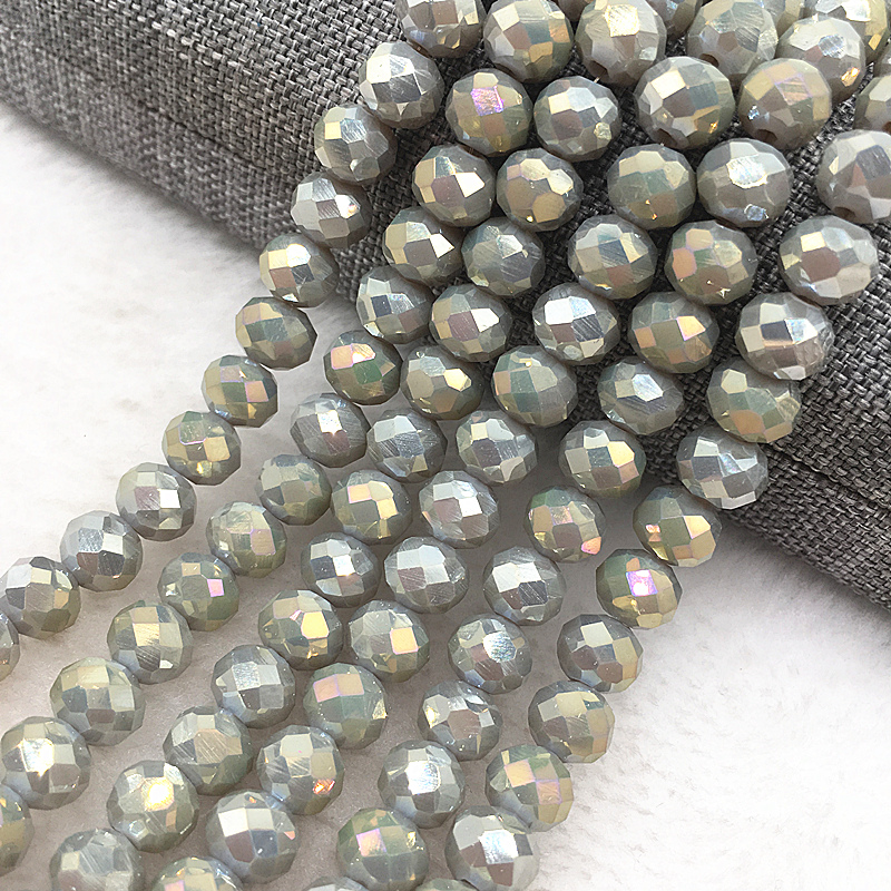 30pcs8mm Rondelle Austria Faceted Crystal Glass Beads,Wheel Beads Jewelry Making