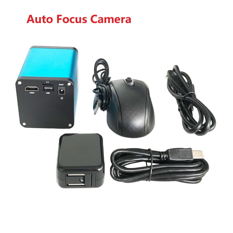 Autofocus 1080P 60FPS SONY SENSOR <font><b>IMX290</b></font> HDMI Video Industry Auto Focus <font><b>Microscope</b></font> Camera Support C-Mount For PCB SMD SMT Repair image