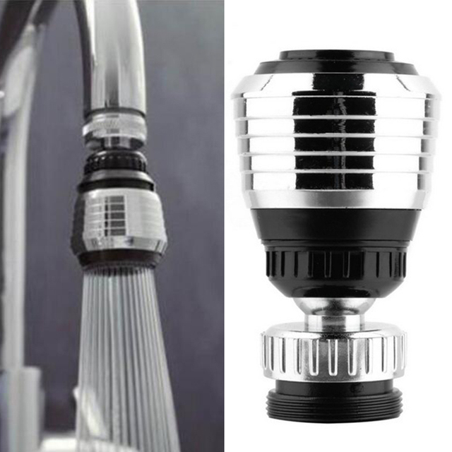 360 Degree Aerator Swivel Nozzle Filter Adapter Water Saving Tap Aerator Diffuser Cuprum+ABS+Stainless Steel