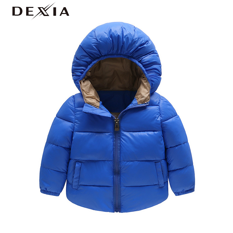 DEXIA New Warm Cotton Child  Coat Hoodie Solid Color Light And Soft White Duck Down Winter Jacket Girls Spring Clothes 1094 2016 winter new soft bottom solid color baby shoes for little boys and girls plus velvet warm baby toddler shoes free shipping