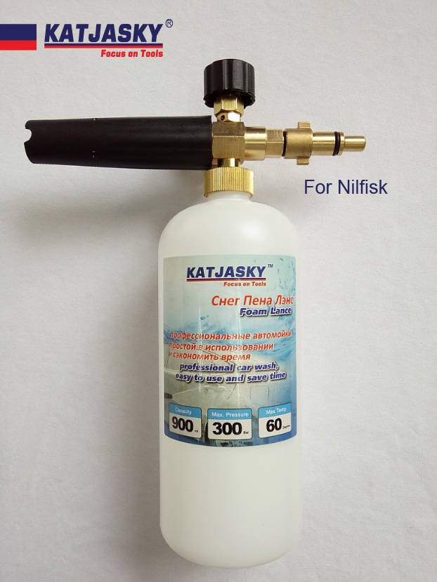 100% copper car washer foam gun fit NILFISK, ECO HPW-1718S high pressure washer foam generator snow bubble lance soap foam spray