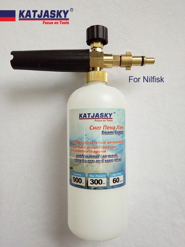 100% rame rondella auto schiuma pistola fit NILFISK, ECO HPW-1718S generatore di schiuma neve bolla lancia schiuma di sapone di lavaggio ad alta pressione a spruzzo