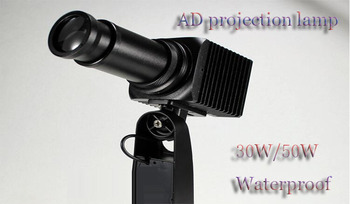 30 W/50 W Wasserdichte LED Hd werbung projektion lampe, freies design objektiv, Freeshipping