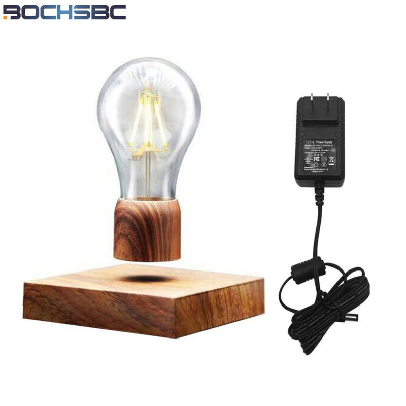 BOCHSBC Creative Design Magnetic Levitatin Table Lamp Wooden Base Desk Lights Lampara for Bedroom Dinning Room Study Unique GiftBOCHSBC Creative Design Magnetic Levitatin Table Lamp Wooden Base Desk Lights Lampara for Bedroom Dinning Room Study Unique Gift