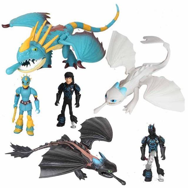 6 шт./партия, Как приручить дракона 3 светильник Fury Беззубик фигурка игрушка игрушечный Дракон игрушки для детей, подарки