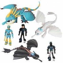 6 יח\סט דרקון צעצוע דמות אור זעם חסר שיני פעולה איור צעצוע דרקון בובת צעצועי ילדי מתנות