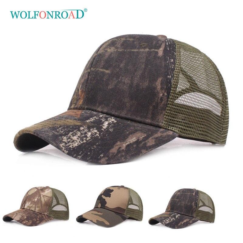 WOLFONROAD Summer Men Women Hiking Caps Outdoor Sport Camping Hats  Camouflage Baseball Mesh Cap Running Head Wear L XJ 005-in Hiking Caps from  Sports ... e5711a07027e