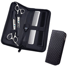 Hair Stylist Shear Scissors Holder Belt Pouch Case for Hairdressers, Salon Hair Scissors Barber Tools Holster -Large, Pu Leather(China)