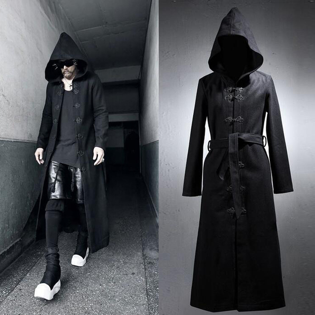 Long Sweater Coat With Hood