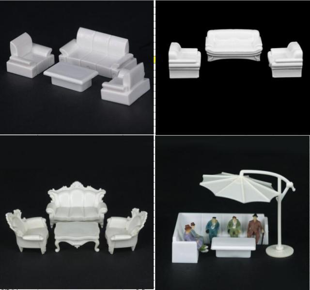 2017 Nieuwe 1 50 75 Schaalmodel Miniatuur Indoor Meubels Model