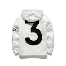 Tour Season 3 Windbreaker fashion vitality Jacket Men Y-3 Logo Letter Printed