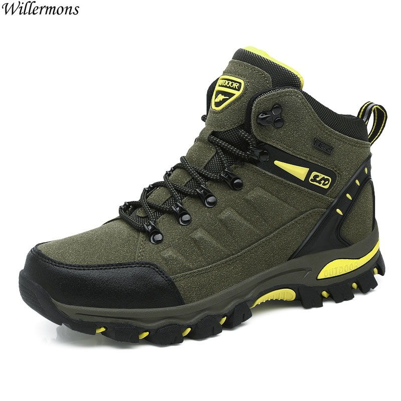 Outdoor Men's Anti-slip Sports Hiking Boots Shoes Men Waterproof Lace Up Climbing Shoes Camping окки мужская повседневная модная обувь
