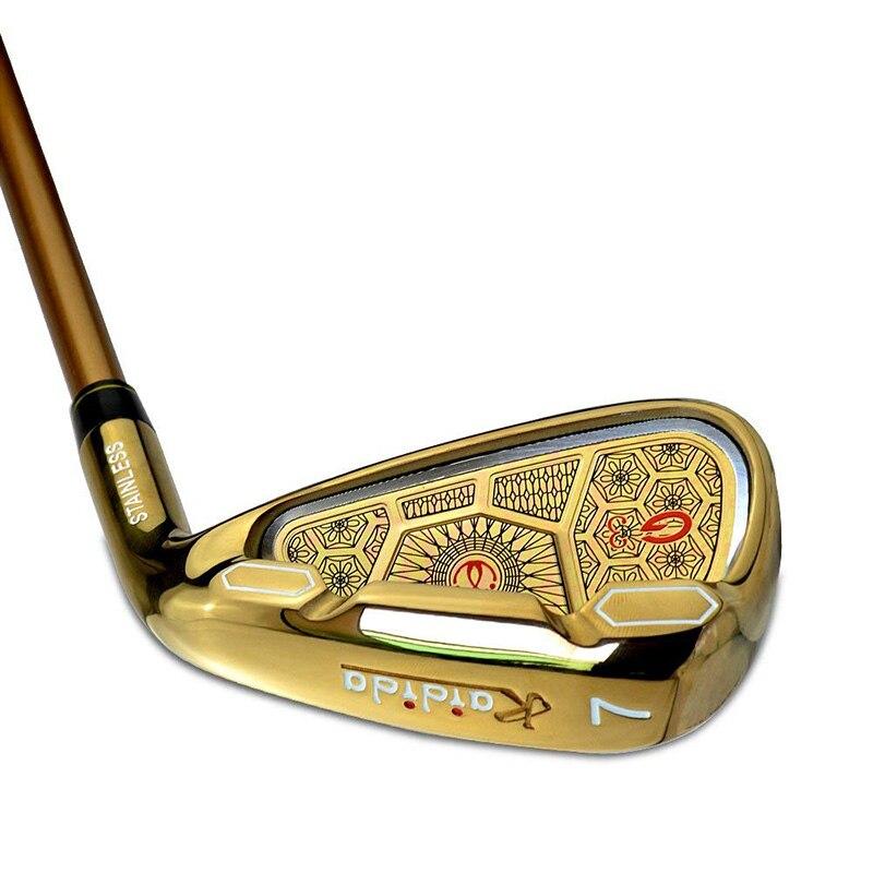 Kaidida G3 couleur or acier tête 7 fer Golf Club Graphite arbre r-flex caoutchouc naturel poignées fer Club pour hommes et femmes