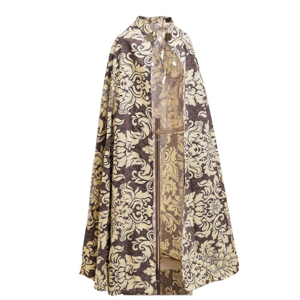 Medieval Renaissance Cloak Reenactments Fairs Royal Style Vintage Cape Halloween Costume