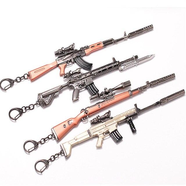 US $4 34 13% OFF|17cm PUBG Weapon Removable Key Chains Rifle AKM Model AK  47 Toys Gun Keychains Key Ring Keyring Pendant High Quality Gifts-in Key