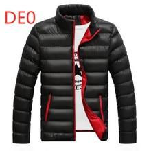 DE0 Hot Sale Men's Feather Duck Down Jackets Print Velvet Male Winter Warm Fleece Unisex Mans Light Slim Duck Casual Large Size
