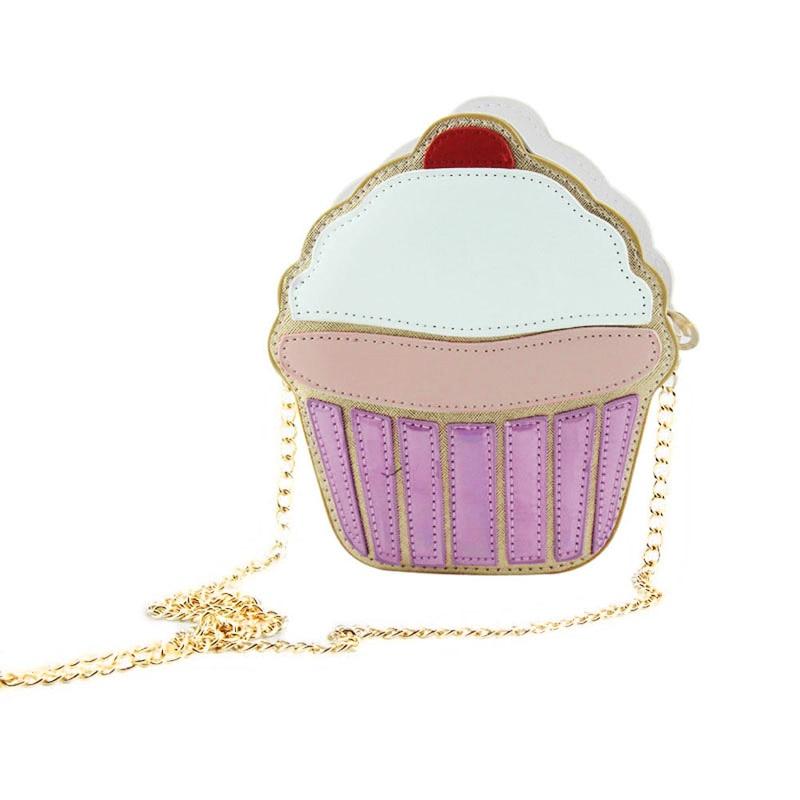 Funny Ice Cream Cake Bag Small Crossbody Bags For Women Cute Purse Handbags Chain Messenger Bag Party Bag Best Sale-WT Сумка
