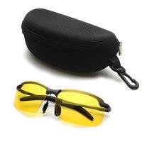 Модные солнцезащитные очки для вождения Для мужчин Ночное видение поляризованные очки UV400 поляризованные очки Ночное видение очки мужские ...