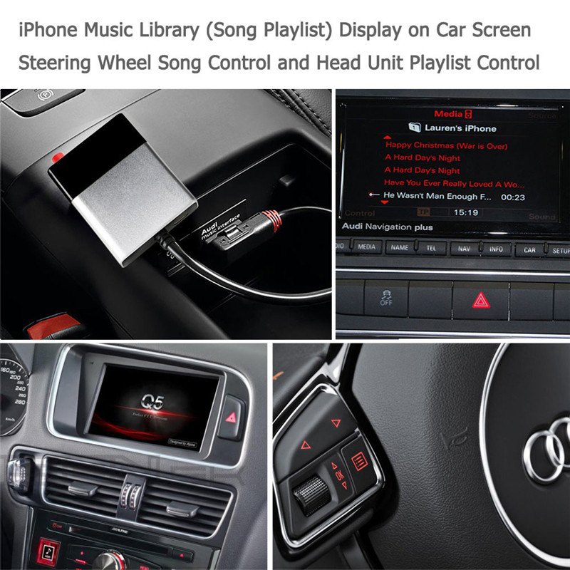 Module d'adaptateur Aux Bluetooth pour voiture AMI MDI Bluetooth Kit Audio récepteur de musique pour Audi A6L A8 A5 Q5 Q7 S3 S7 pour VW pour Benz - 4
