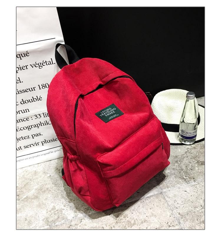 HTB1Fm7wdUD.BuNjt ioq6AKEFXaK Women Striped Corduroy Backpack Female Eco Simple Cloth Bag Large Capacity Vintage Travel Bags School Backpack for Teenage Girls