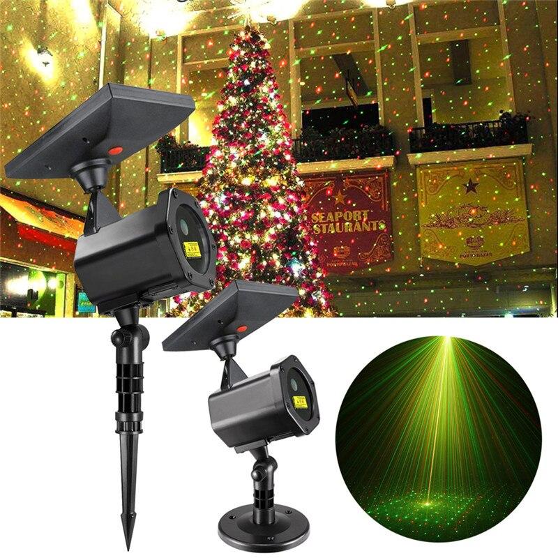 Solaire LED Laser Projecteur Lampe Extérieure 2018 Fête De Noël Pelouse Lumières Festival Spotlight Fée Lumières Étoilé Jardin Laser Lampe