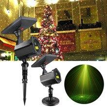 Солнечный светодио дный светодиодный лазерный проектор лампа открытый 2018 для рождественской вечеринки газон огни праздничное освещение сказочные огни Звездный сад Лазерная лампа